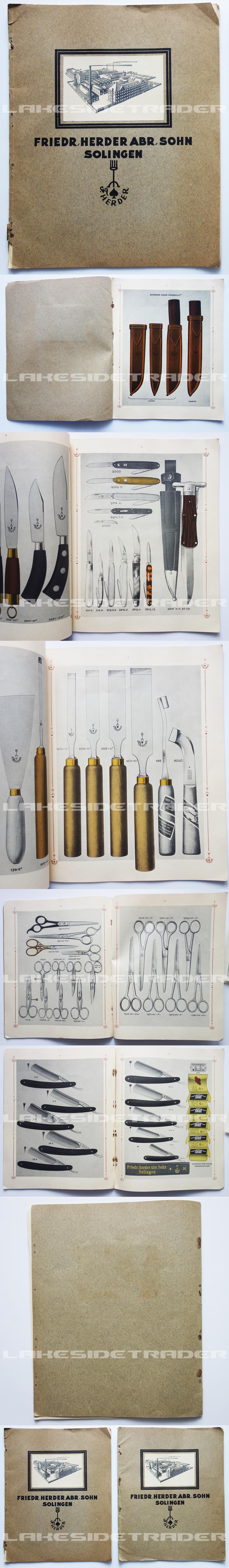 F. Herder Sales Catalog 1920s