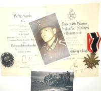 Document/Medal group to Unteroffizer Herman Sigl