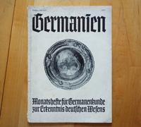 Booklet Germanien, July 1938, Issue 7