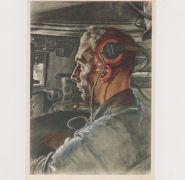 Panzer Driver Postcard