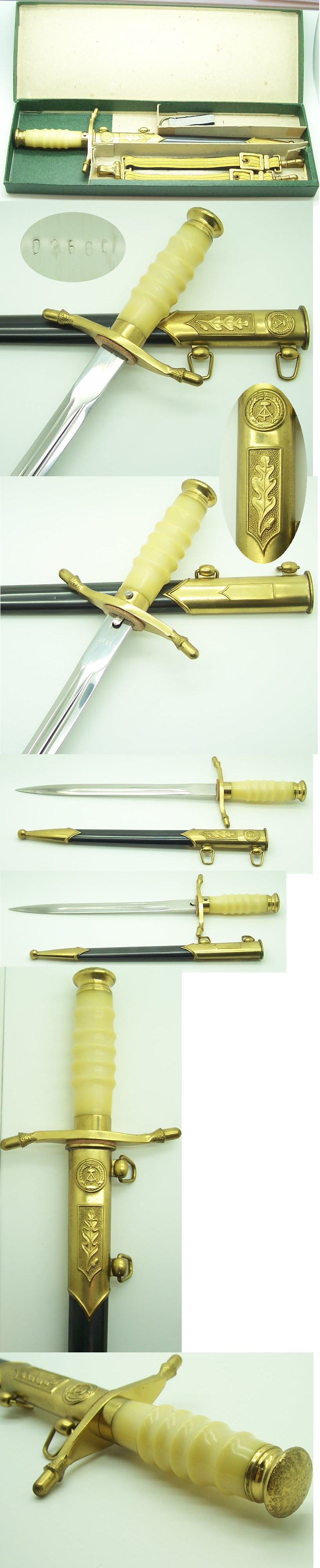 Boxed East German Navy Officer's Dagger