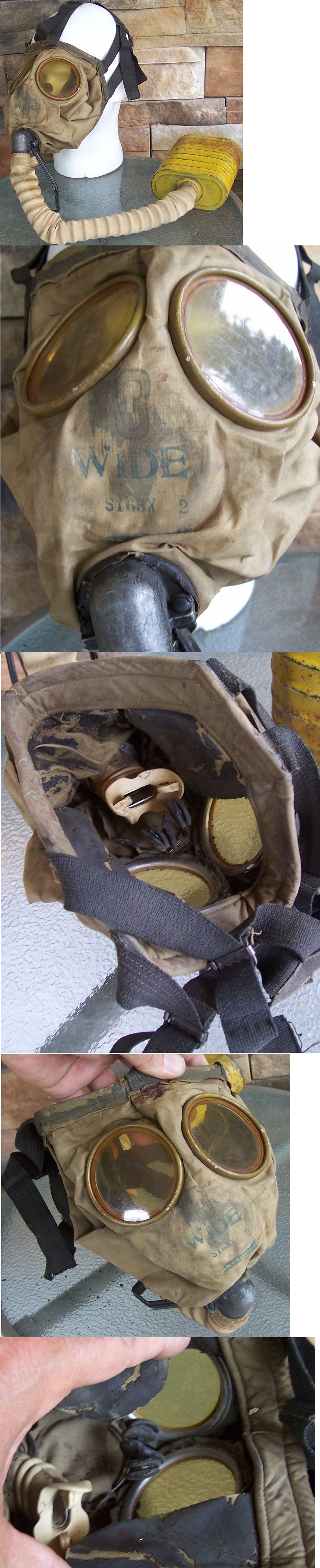 US WWII Vintage Gas Mask
