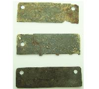 3 Allied POW 1/2 Dog Tags