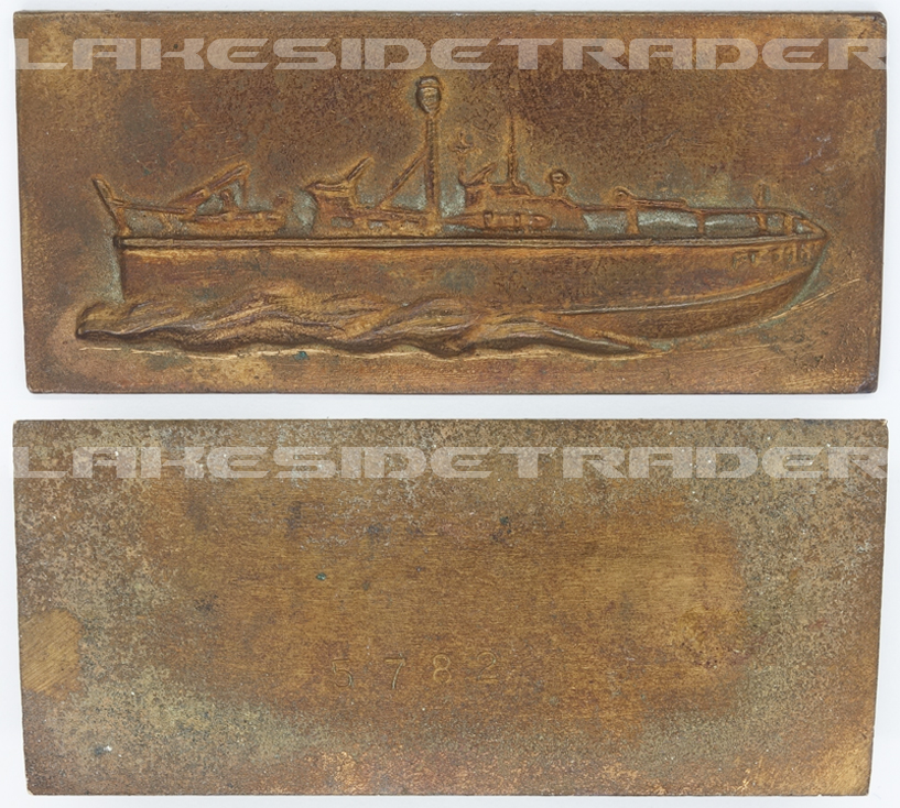 Boat Bronze Plaque