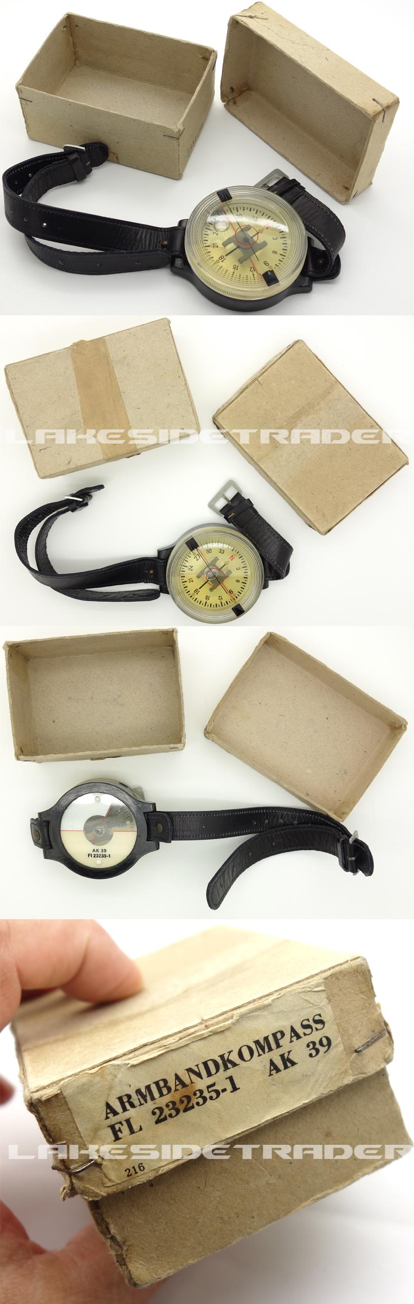 Unissued Luftwaffe AK-39 Wrist Compass