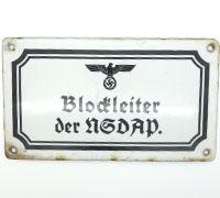 Blockleiter der NSDAP Sign