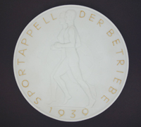 SS Allach Porelain Sports Competition Prize Plaque 1939