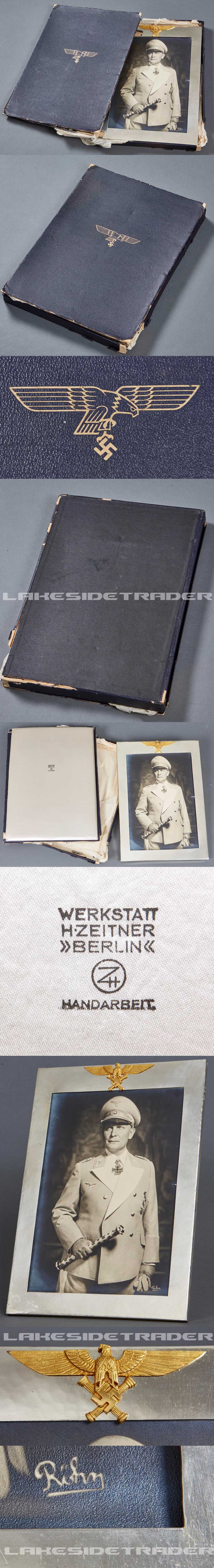Reichsmarshall Hermann Goering: Large Silver Gift Frame with Photo