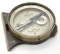 Imperial Brass Fussartillerie Artillery Aiming Compass By Carl Zeiss Jena
