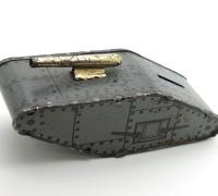 Treat 'em Rough Tank Coin Bank