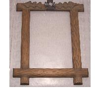 Hand Carved Picture Frame for Fallen Soldier