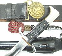 Eickhorn Long Fireman's Bayonet and belt