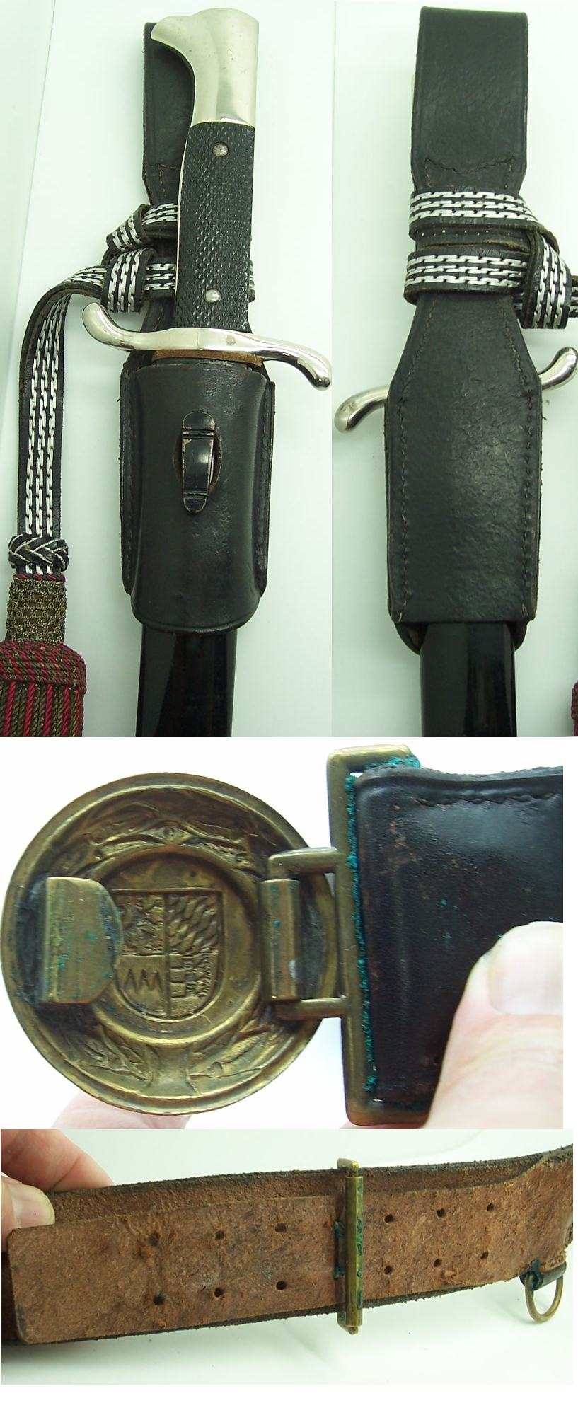 Eickhorn Long Fireman Bayonet and belt