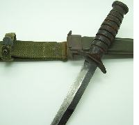 US WWII M3 Fighting Knife & M8 Scabbard, Camillus