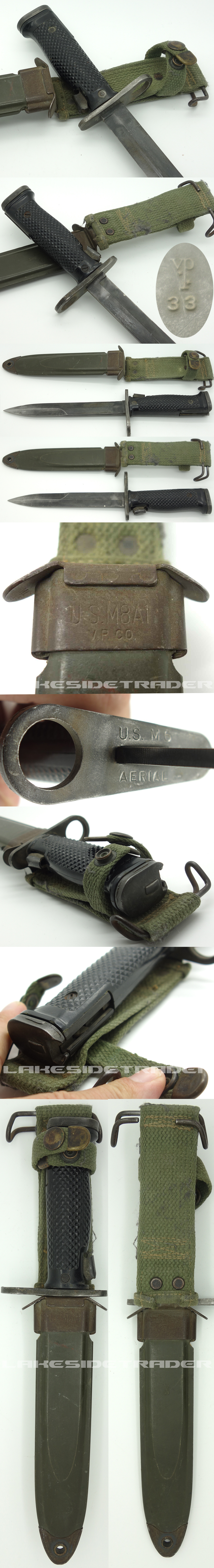 US M6 AERIAL BAYONET WITH US M8A1 V.P. CO.