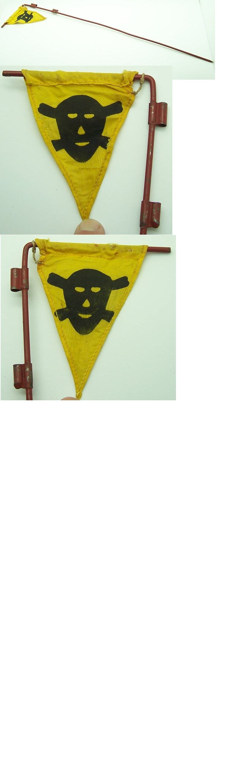 Mine field flag with Pole