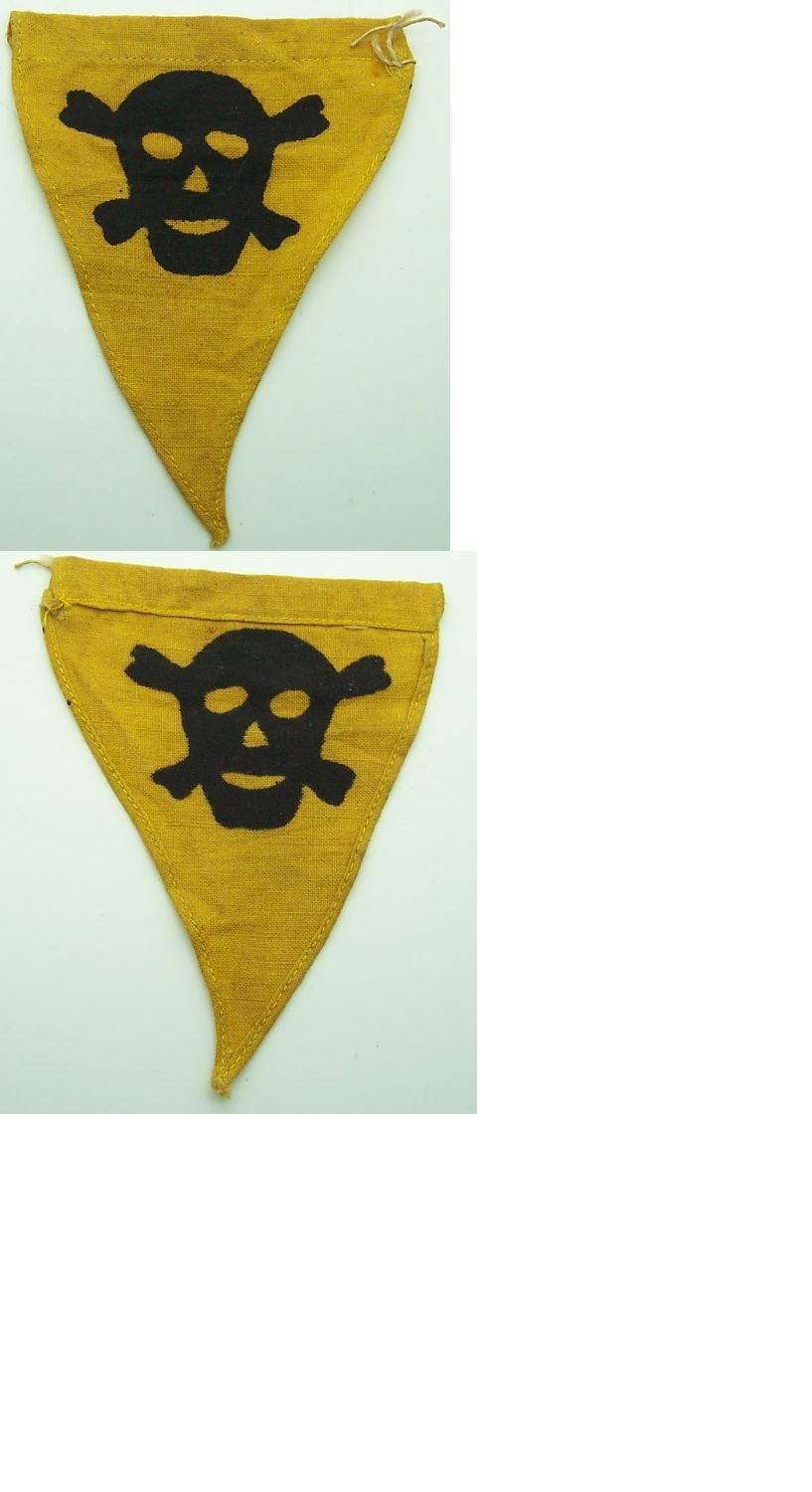Minefield / Gas Warning Flag