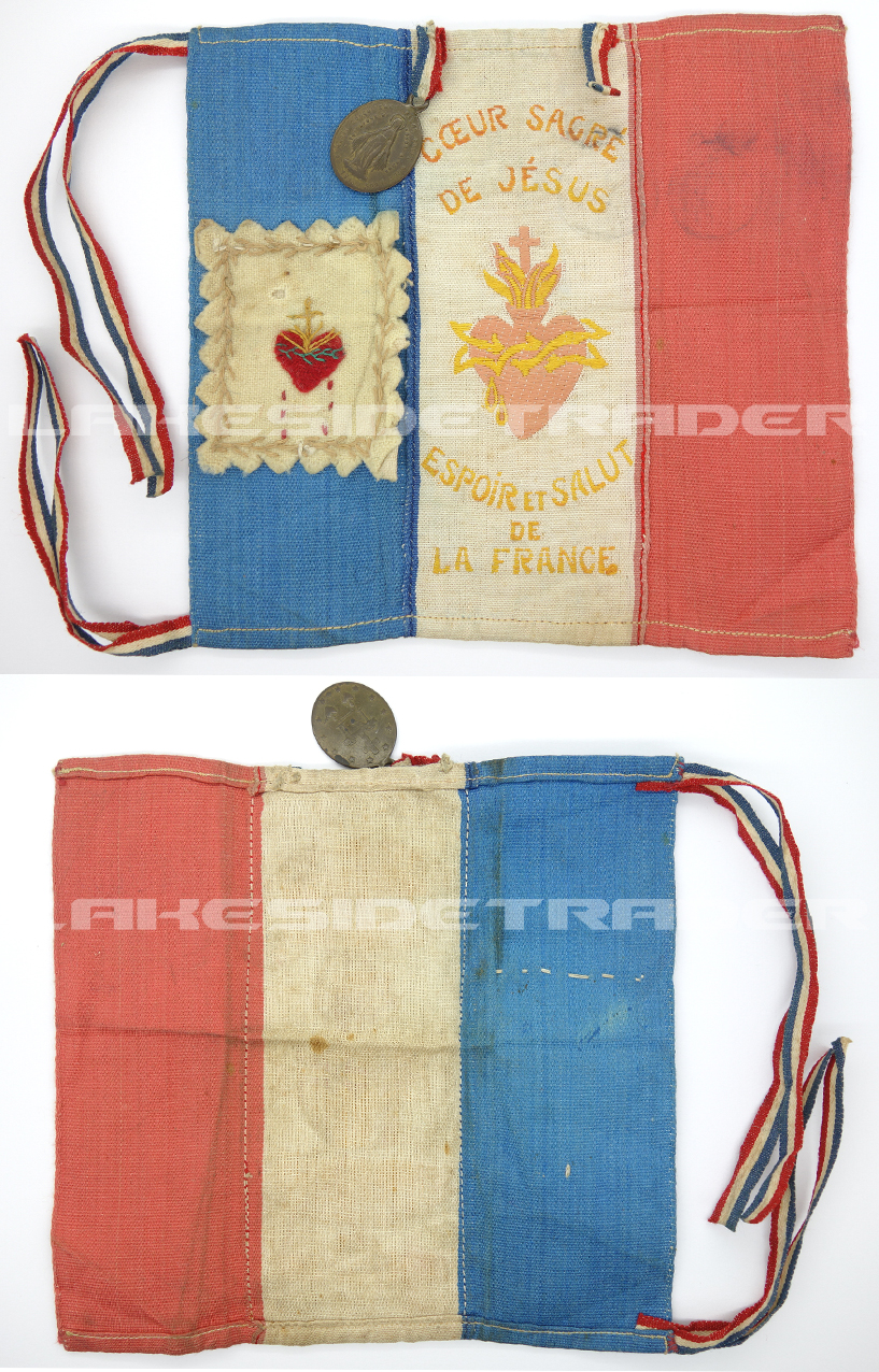 "Imperial Kingdom of France Army ""Coeur Sacre de Jesus""? Banner"