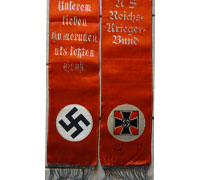 NSDAP Funeral Sash for a Veteran