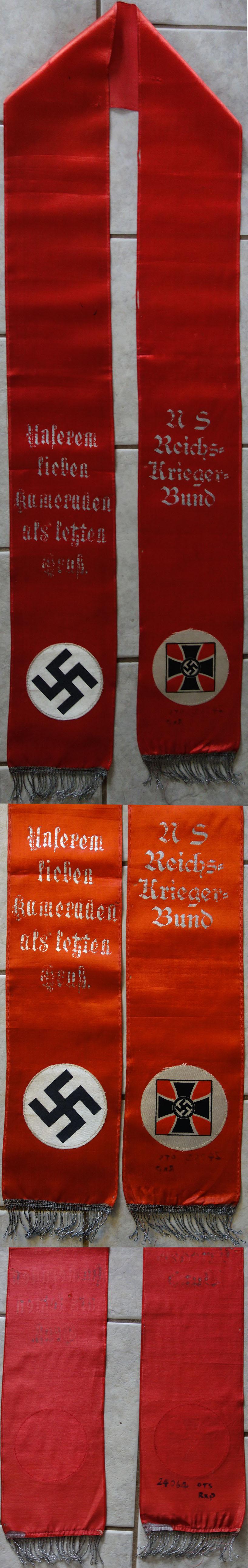 NSDAP Funeral Sash for a Veteran
