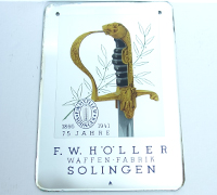 Holler Advertising Plaque  75 Year Anniversary