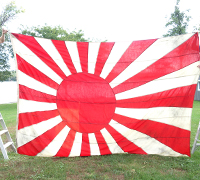 Huge Imperial Japanese Navy Battle Flag