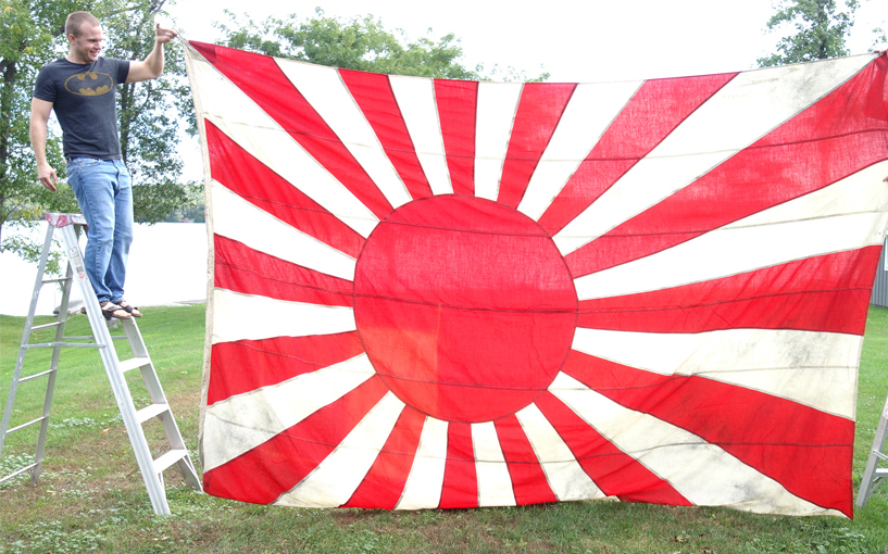 Huge Imperial Japanese Navy Battle Flag