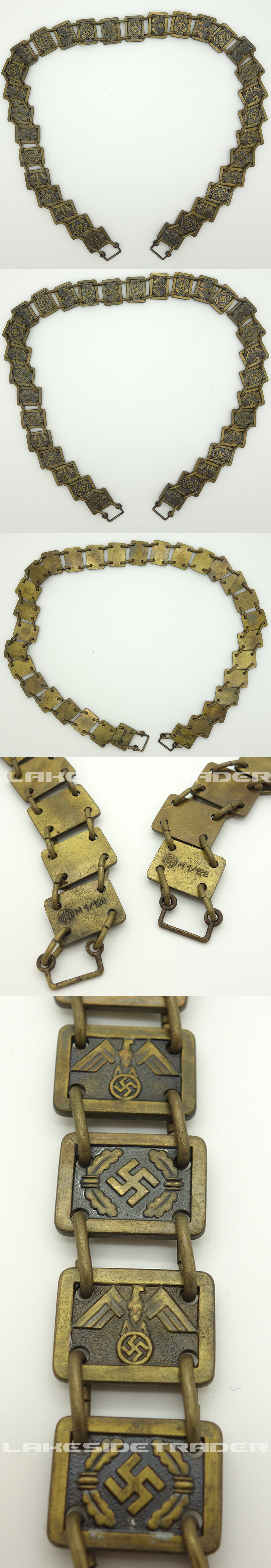 NSDAP Political Leaders Gorget Chain by RZM M1/128