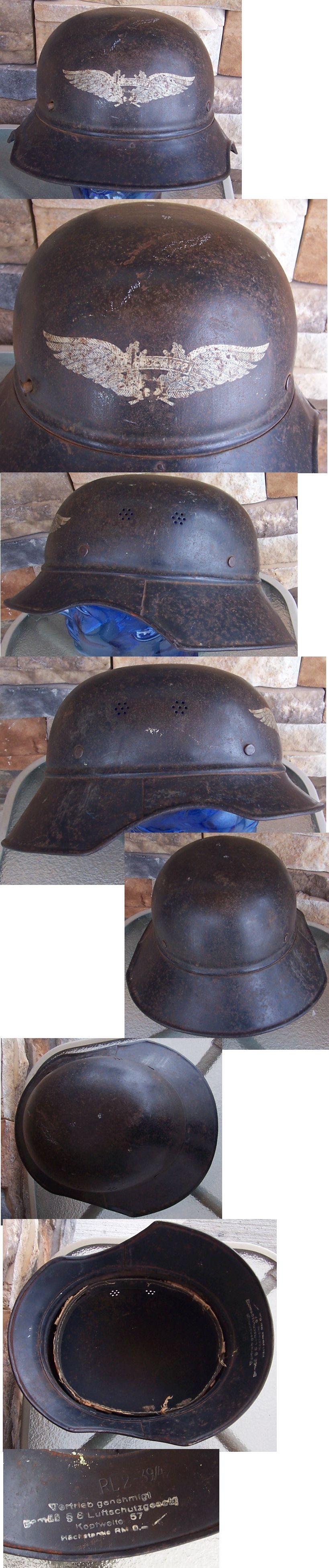 M38 Luftschutz Helmet Shell