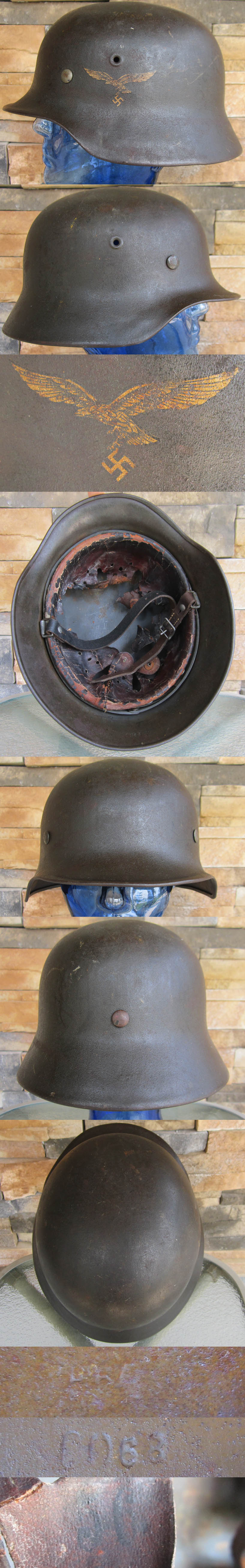 Single Decal M40 Luftwaffe Helmet by EF-64