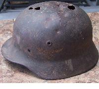 Battle Damaged M40 SD Luftwaffe Q64 Helmet