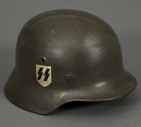 A Steel Helmet M35 Waffen SS Double Decal