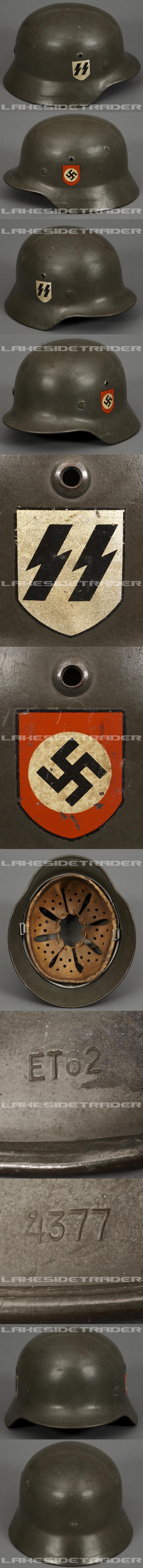 A Steel Helmet M35 Waffen SS Double Decal