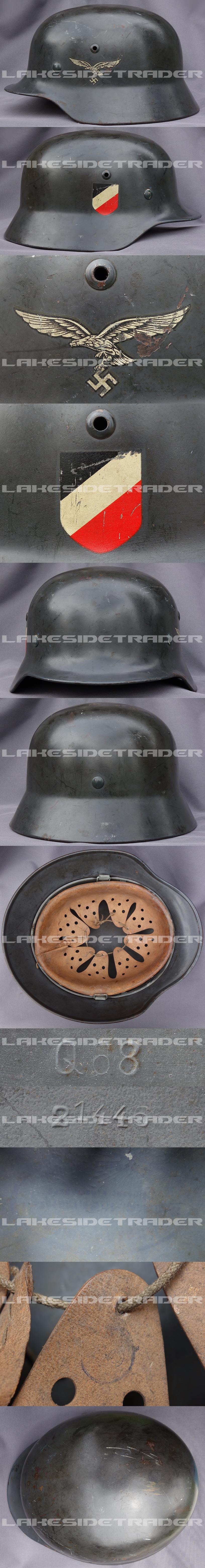 M35 DD Luftwaffe Helmet by Q68