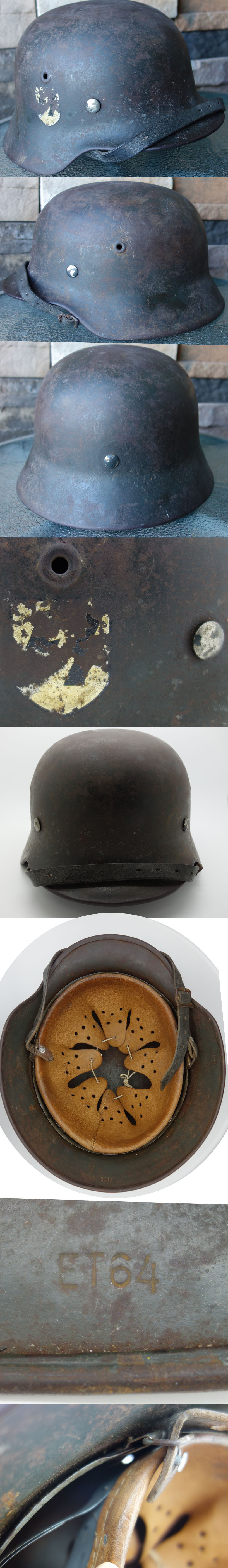 SS M40 Single Decal Helmet