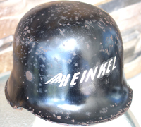 Heinkel Factory Protection Helmet-Post-war paint