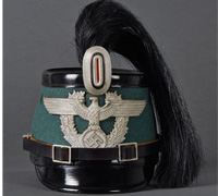 Municipal Police NCO Shako with Plume by Erel