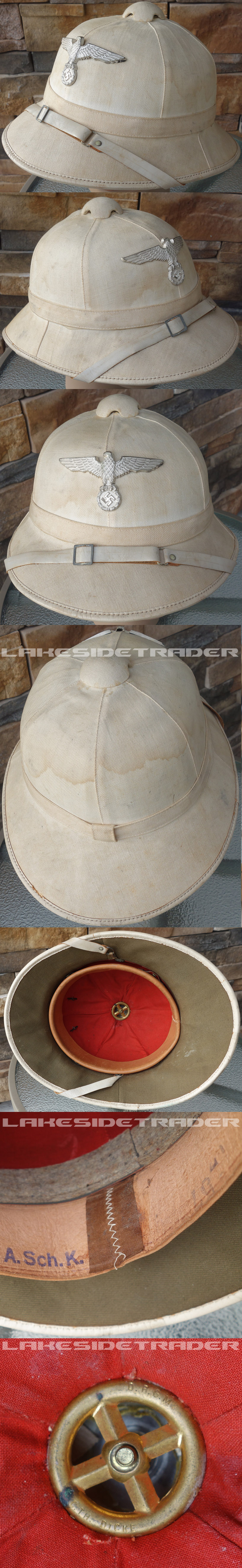Navy Administration Official's Pith Helmet