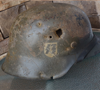 SS M42 CKL Battle damaged Helmet