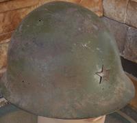 Restored Japanese Type 90 Combat Helmet