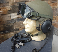 Vietnam era US Tanker's Helmet & Goggles