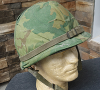 Vienam era US M1 Helmet with Camo Cover