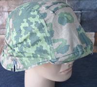 Spanish M42 style Reinactor helmet w camo cover