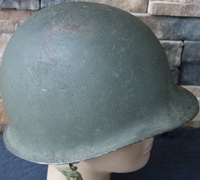 Early US Army M1 Fixed Bale helmet with S.C. Liner