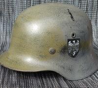 Reinactor M40 ET62 Army Camo Helmet