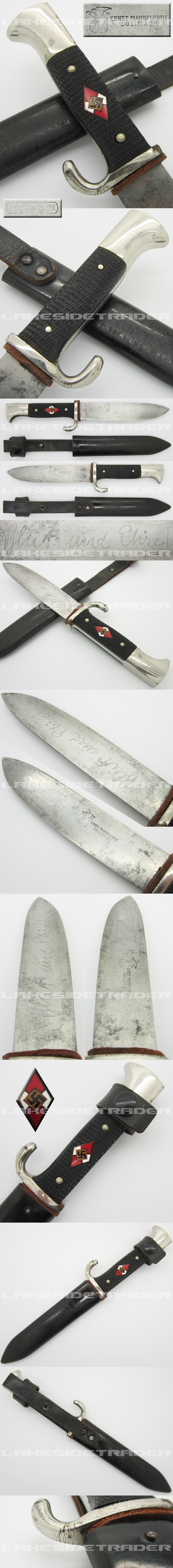 Early Hitler Youth Knife by Ernst Mandewirth