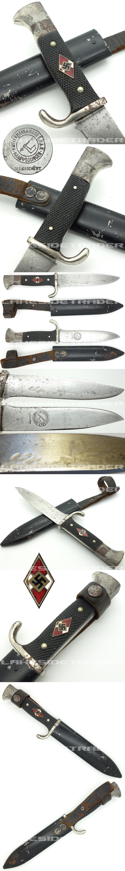 Early Hitler Youth Knife by Klittermann & Moog