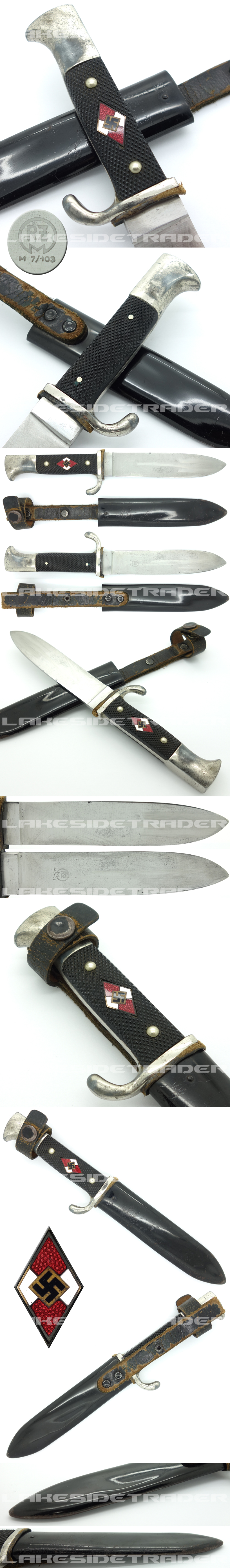 Hitler Youth Knife by RZM M7/103