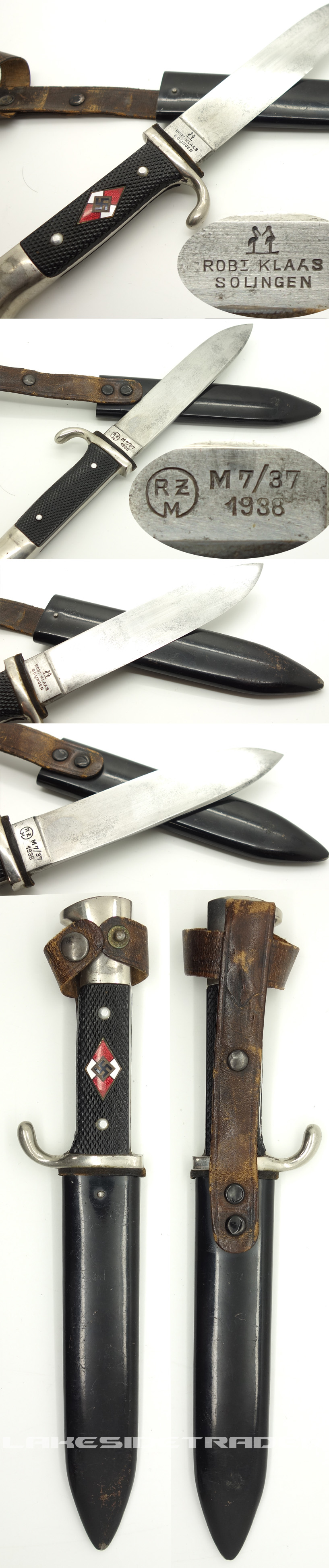 Transitional Hitler Youth Knife by Rbt. Klaas 1938