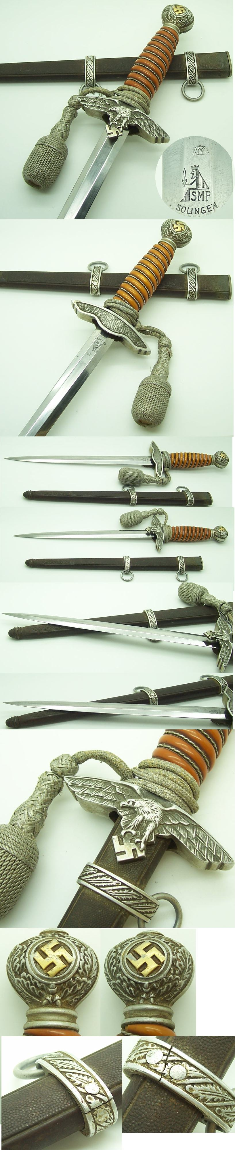 Interesting 2nd Model Luftwaffe Daggers by SMF